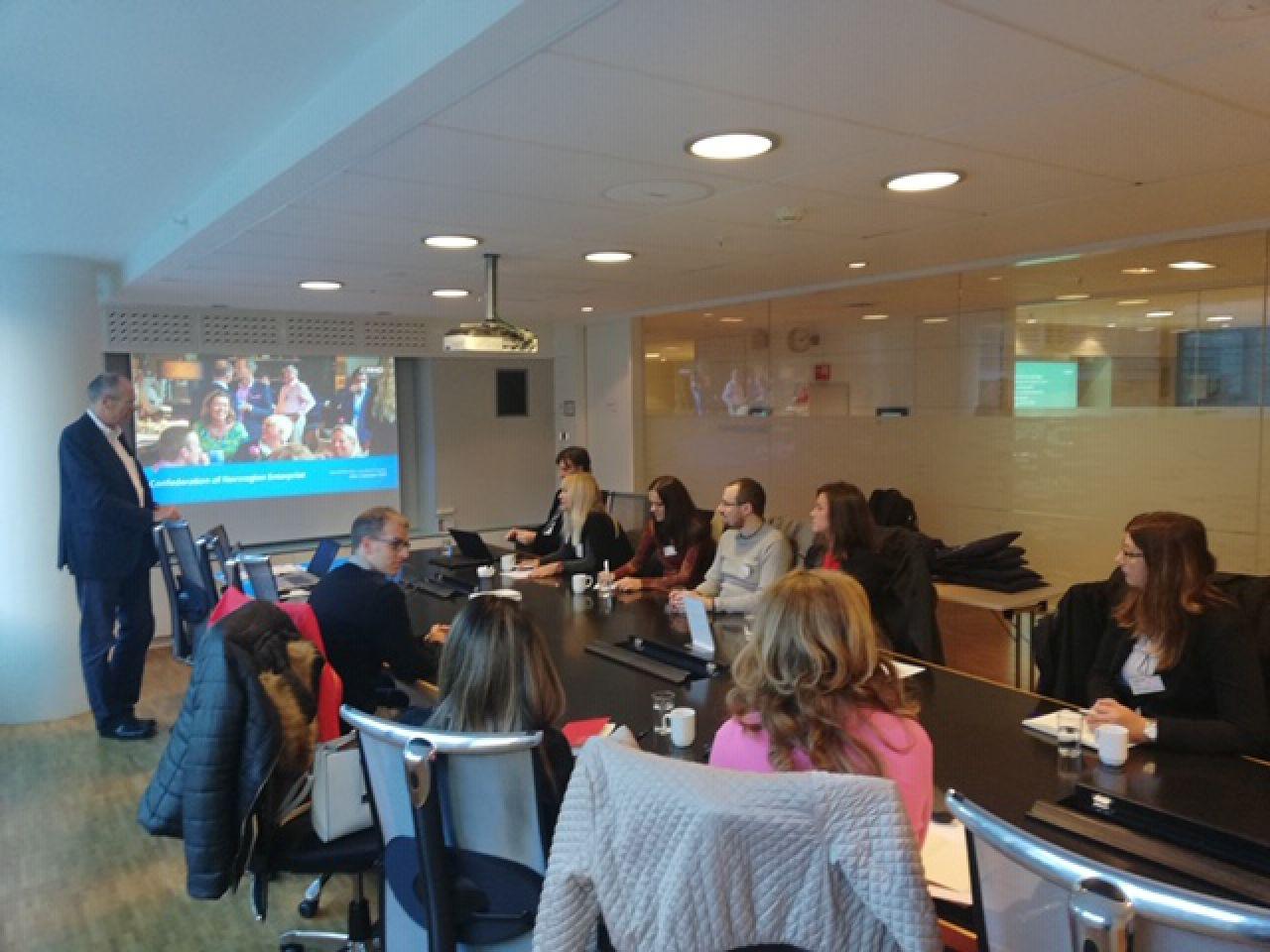 Partneri projekta SPARTAK u studijskom posjetu Norveškoj udruzi poslodavaca