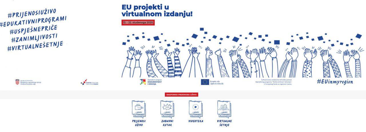 JU RERA sudjeluje u virtualnim Danima otvorenih vrata EU projekata!