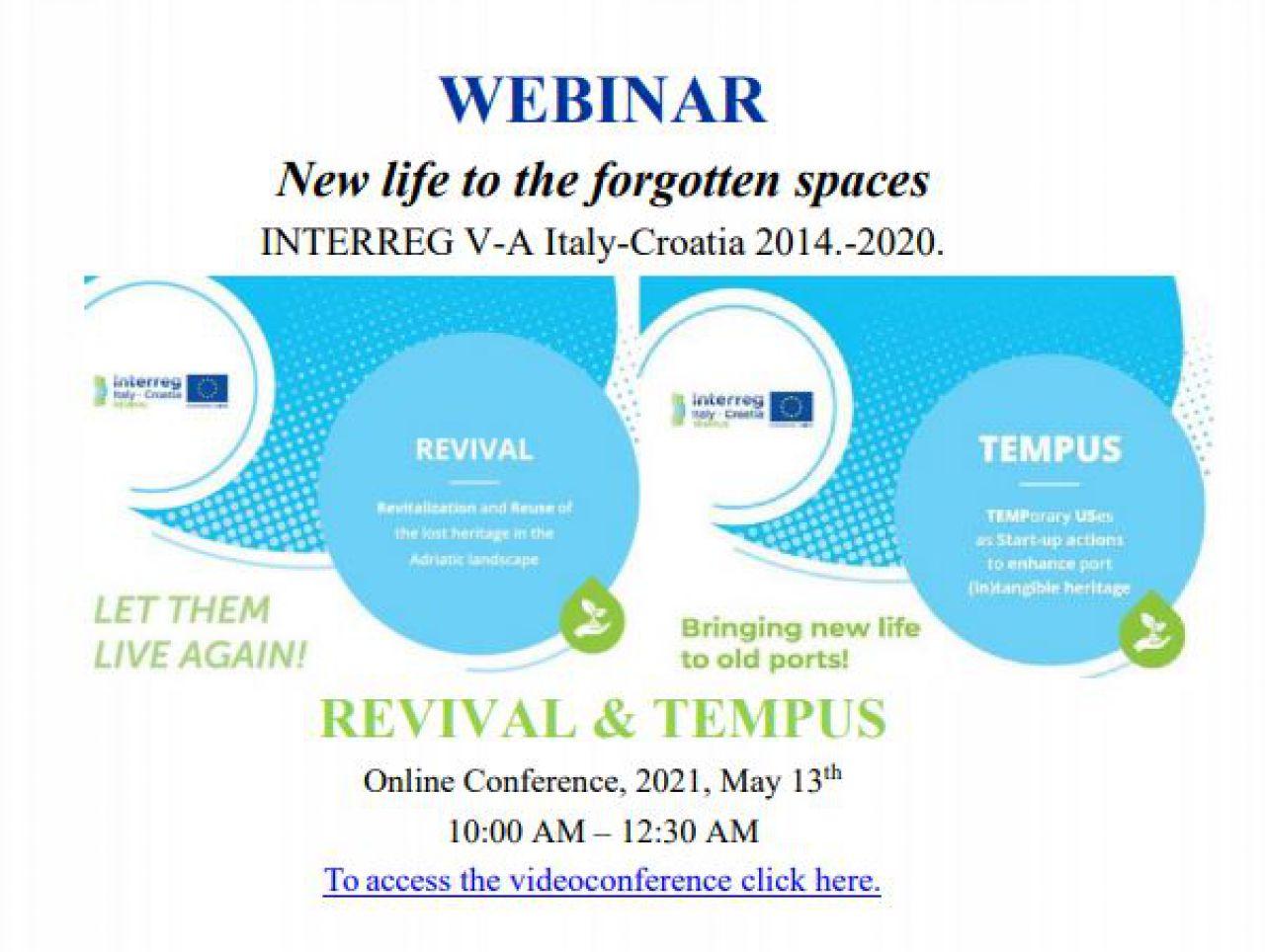 Zajednički webinar projekata REVIVAL i TEMPUS