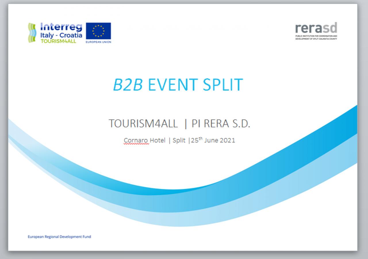 TOURISM4ALL – b2b event Split
